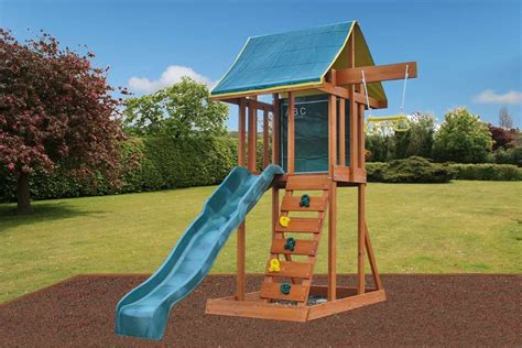 swings and slides for small gardens holt small garden climbing frame with slide swing