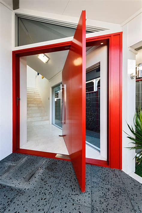 modern front door  wood accents home design