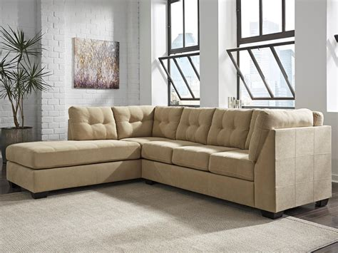 tan sectional with chaise benchcraft by ashley maier tan 2 piece sectional with
