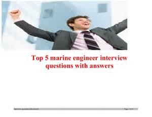 top 5 marine engineer questions with answers