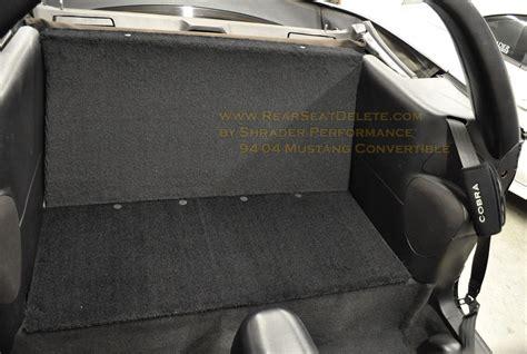 mustang rear seat delete kit shrader performance custom dyno tuning modular ford