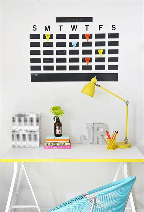 calendar design diy 15 genius diy wall calendar projects home design and