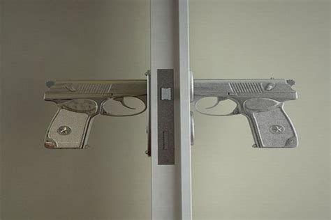 gun door handle bang bang gun shaped door handle