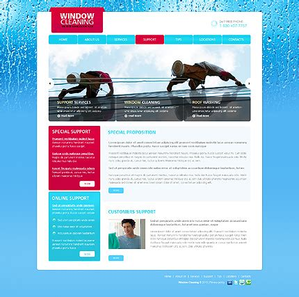 window cleaning website template 29507