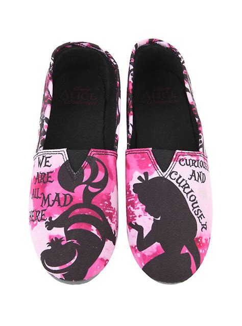 topic shoes disney in cheshire cat slip on shoes