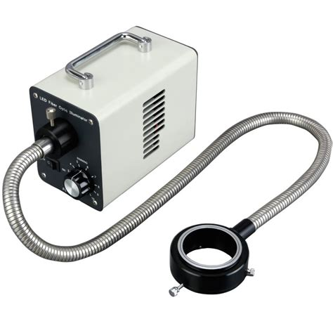 microscope fiber optic light source 20w led fiber optic o ring light microscope illuminator