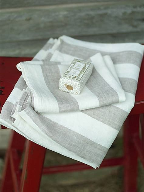 linen guest towels for bathroom philippe striped linen towels by linenme