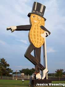 Fort Smith Ar Mr Peanut Sign And Statues Planters Fort Smith Ar