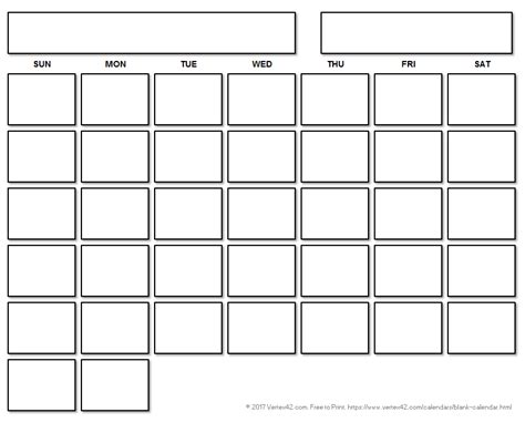 Blank Calendar Template Free Printable Blank Calendars By Vertex42 Calendar Template To Print