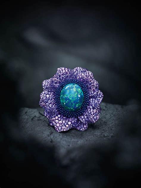 Black Opal 3 3ct fleurs d opales our new haute joaillerie capsule