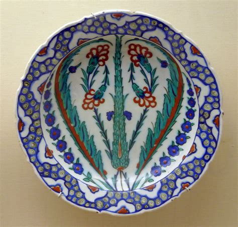 Ottoman Ceramics File Cypress Tree Decorated Ottoman Pottery P1000590 Jpg Wikimedia Commons