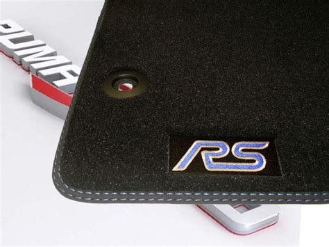 rubber st logo focus rs mk 2 floor mats focus mk 2 clothing and other