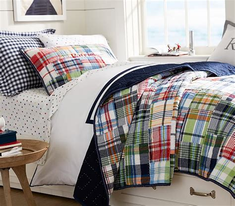 pottery barn kids madras curtains madras quilted bedding pottery barn kids
