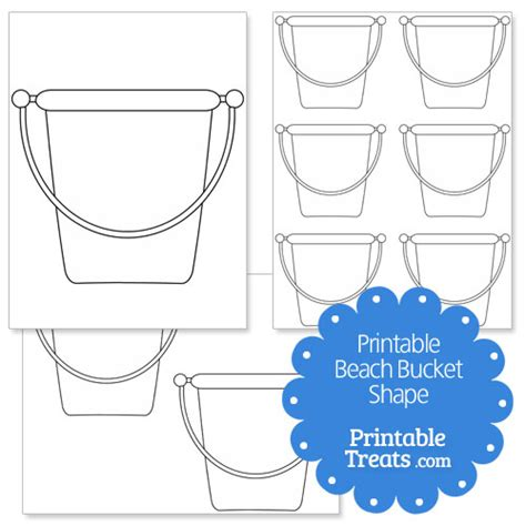 printable seaside templates 9 best images of free printable bucket template beach