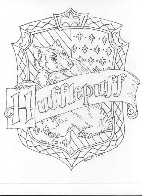 harry potter coloring pages hufflepuff harry potter hufflepuff coloring pages sketch coloring page
