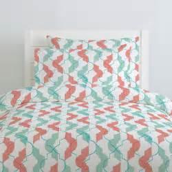 Quatrefoil Baby Bedding Coral And Teal Modern Quatrefoil Duvet Cover Carousel