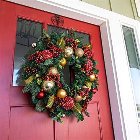 artificial christmas wreath scarlet hydrangea