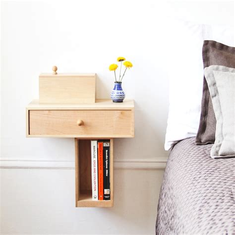 small diy custom modern floating bedside nightstand