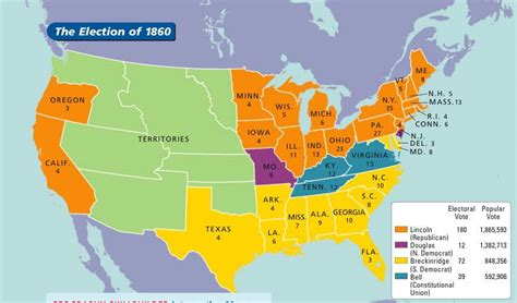 united states map of 1860 mr rubin 1f election of 1860