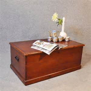 Antique Chest Coffee Table Antique Coffee Table Blanket Box Chest Shipping Trunk C1870 213169