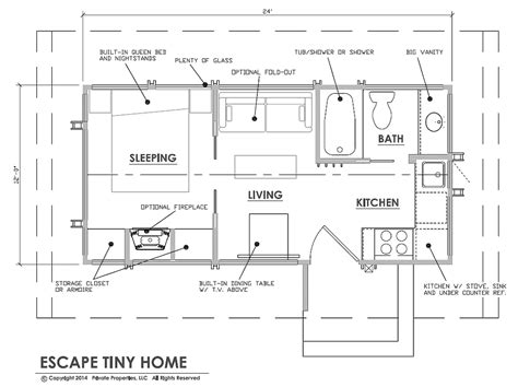 Small Cabin Floorplans by Escape Park Models Tiny House Blog