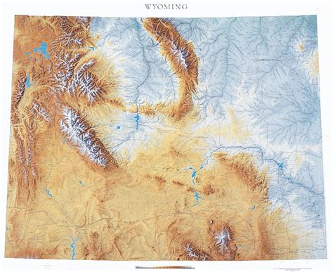 physical map of wyoming wyoming state physical map