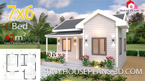 tiny house plans    bedroom cross gable roof