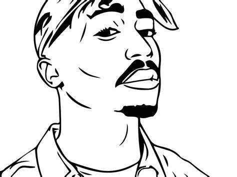 Desenho De Tupac Para Colorir Tudodesenhos Chris Brown Para Colorir