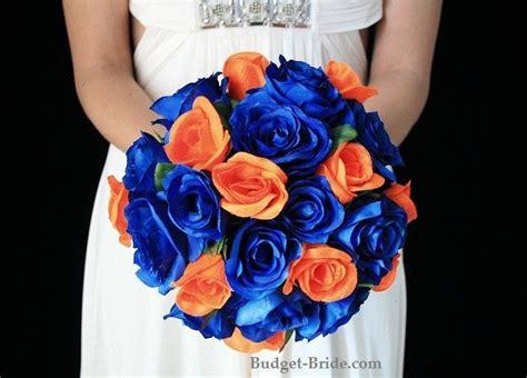royal blue and orange wedding flowers future wedding