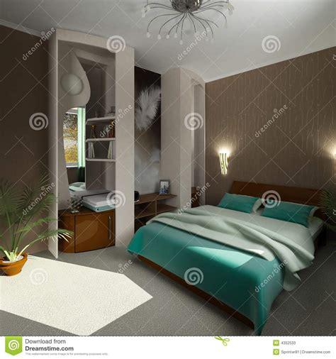 chambre 3d chambre 224 coucher moderne du confort 3d photos stock