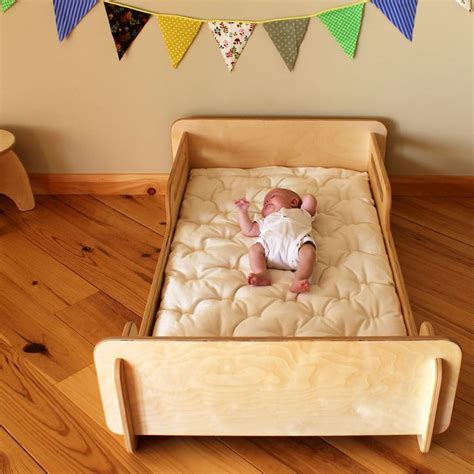 montessori baby bedroom natural crib sized montessori style infants bed
