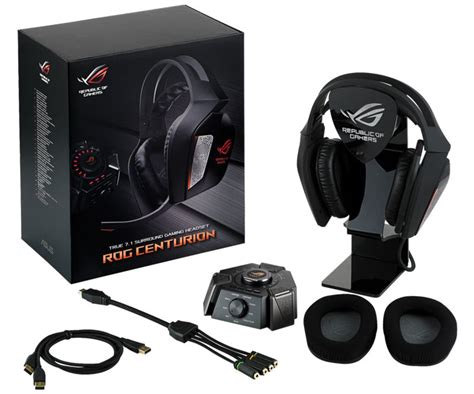 Headset Republic Of Gamers asus rog announces the centurion 7 1 gaming headset hardware news hexus net