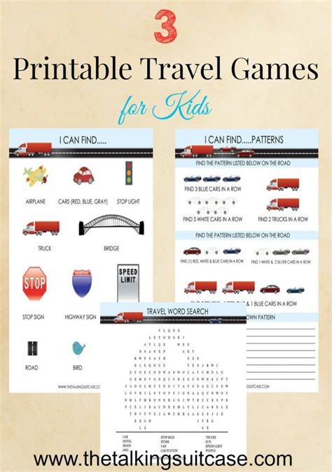 printable vacation games 1000 images about travel printables on pinterest bingo