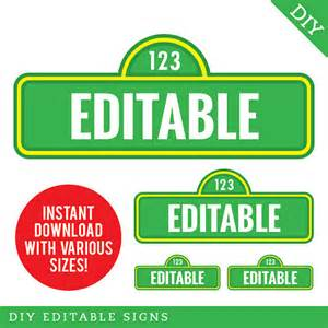 instant sesame signs editable printable file