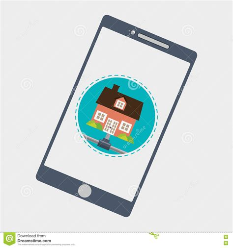 home automation design smart house icon house concept