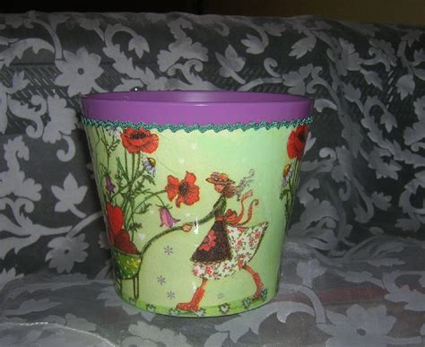 Decoupage Using Wallpaper - ceramic flower pot decoupage by goshiadecu on deviantart
