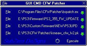 cfw patcher v1.0.8.r3 : patchez votre firmware officiel