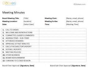 free printable meeting minutes templates search results