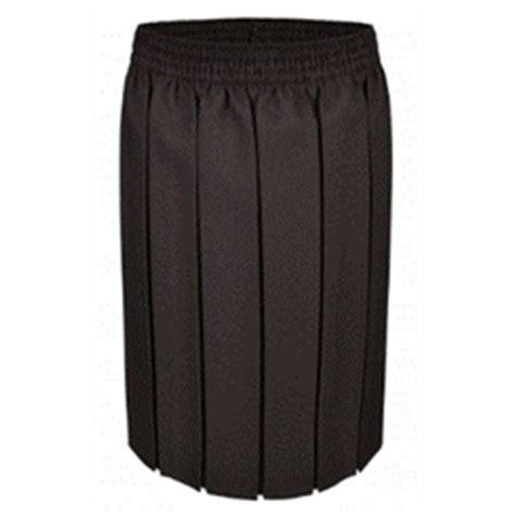 brown junior box pleat skirt
