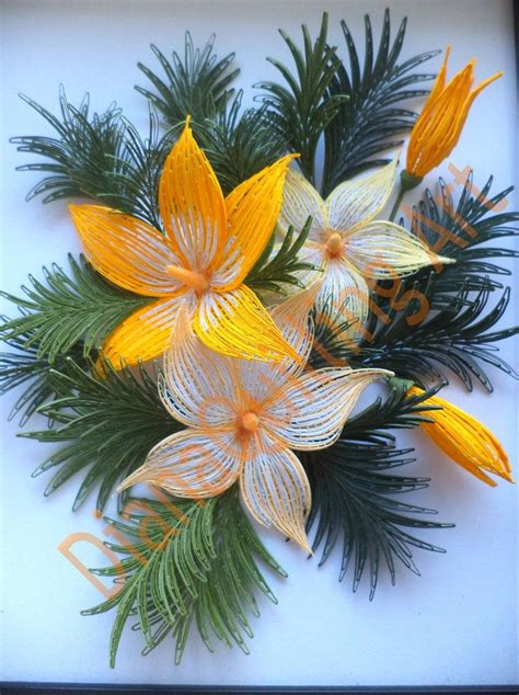 quilling lily tutorial 74 best quilling flowers lilies images on pinterest
