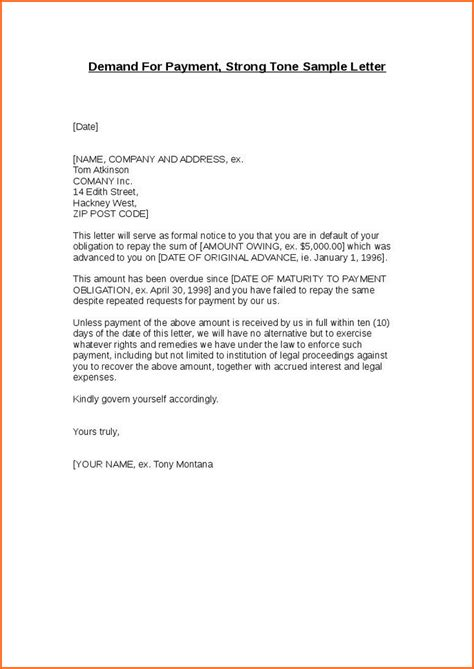 Demand Letter Sent How Much Longer 11 Demand Letter Template Budget Template Letter