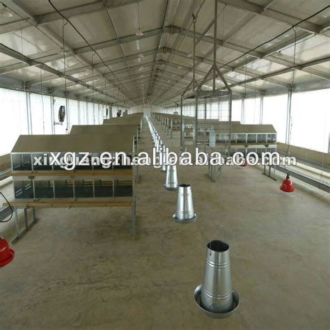 Controlled Poultry Sheds Design by Prefabricated Broiler Poultry House Farm Poultry Shed