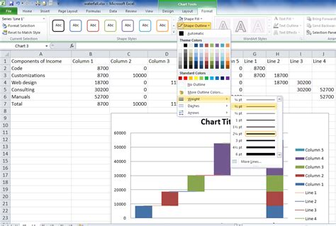 waterfall chart excel 2010 download car interior design