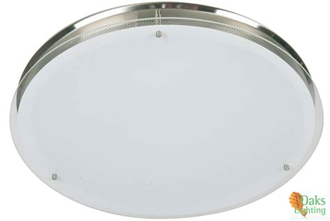 oaks lighting halo large flush ceiling light satin