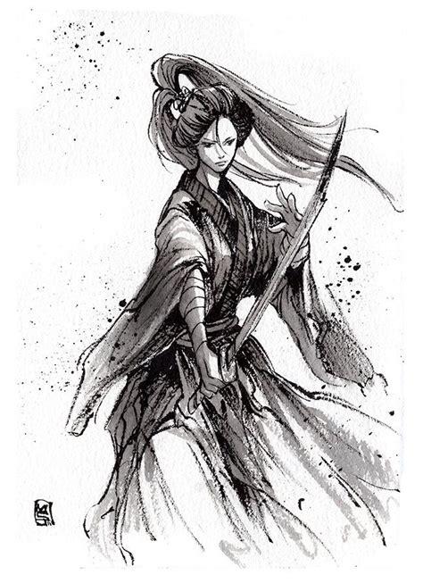 pen ink tattoo by labinnak on deviantart ink sketch lady katana by mycks deviantart com on