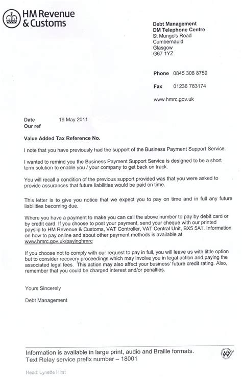 Appeal Letter Template To Hmrc Insight Associates June 2011
