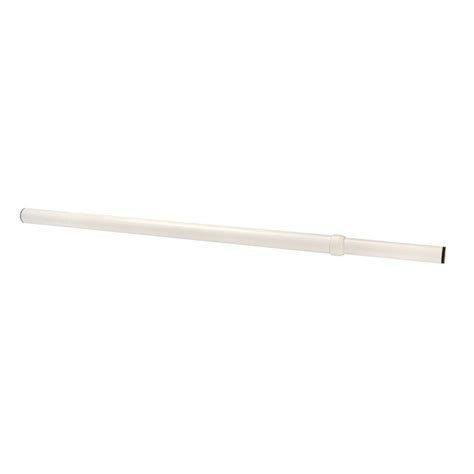 Closet Clothes Rod Home Depot by Lido Designs 30 48 In White Extend And Lock Steel