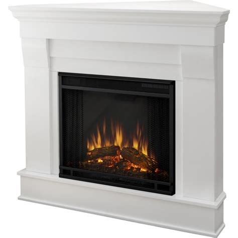 Indoor Electric Fireplace Real Chateau Corner Electric Fireplace Indoor Usage Heating Capacity 1 38 Kw White