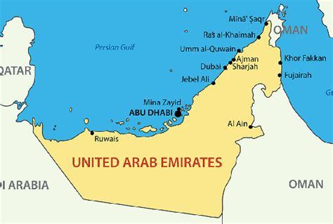 uae political map uae map blank political uae map with cities