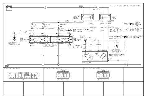 2004 mazda tribute light wiring diagrams repair wiring scheme repair guides exterior lighting 2004 headlights autozone